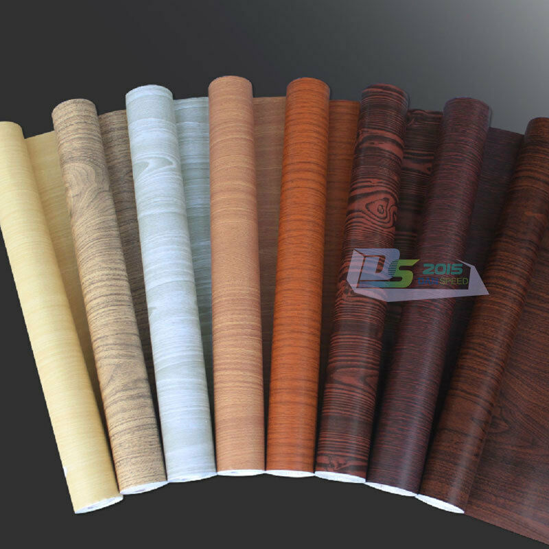 Self Adhesive Wood Grain Wallpaper Vinyl Sticker Film