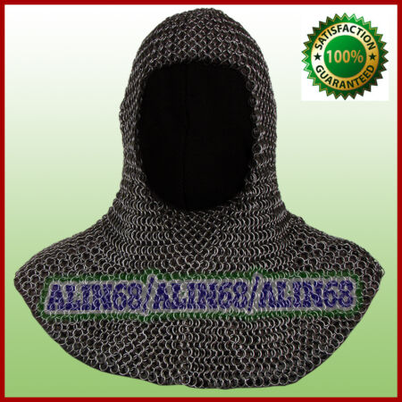 img-Chainmail Coif For Sale Chain Coif Armour Chain Mail Hood Chain Mail Clothing