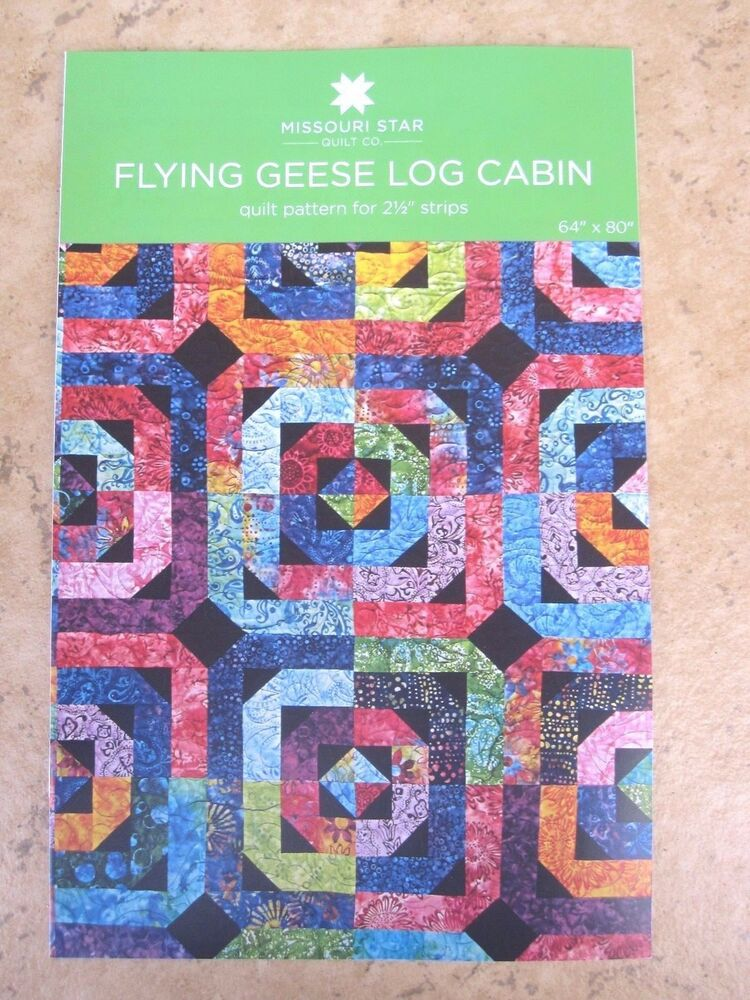 Flying Geese Log Cabin Quilt Pattern For 2 1 2 Quot Strips By
