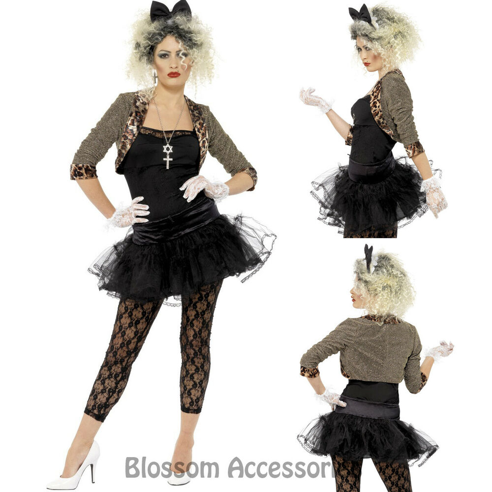 Cl715 80s Wild Child Pop Diva Madonna Clothing Fancy Dress