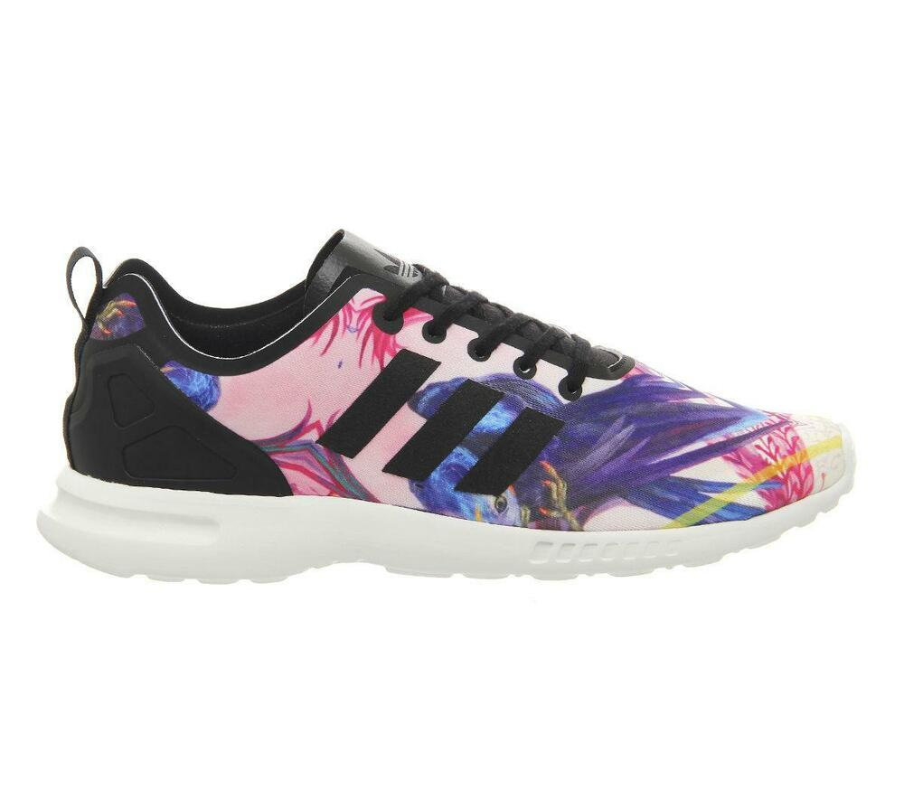 a8c9128d5 Womens Adidas ZX Flux Smooth Flore Low Trainers S82937