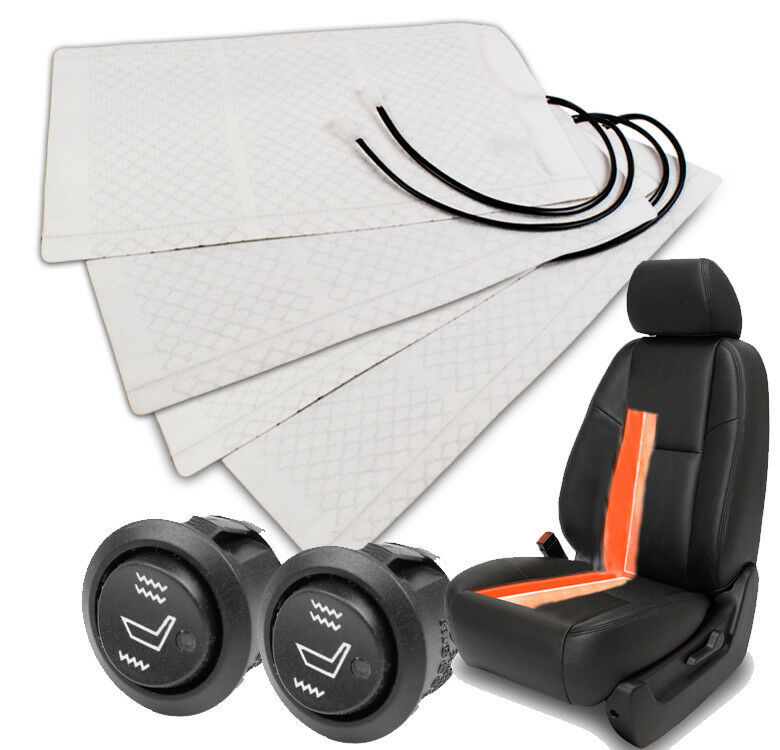Universal Car Heated Seat Kit 2 Dial 5 Level Switch Seat: NEW 2X HEATER PAD HEATED SEAT+ROUND HI/LOW SWITCH INTREPID