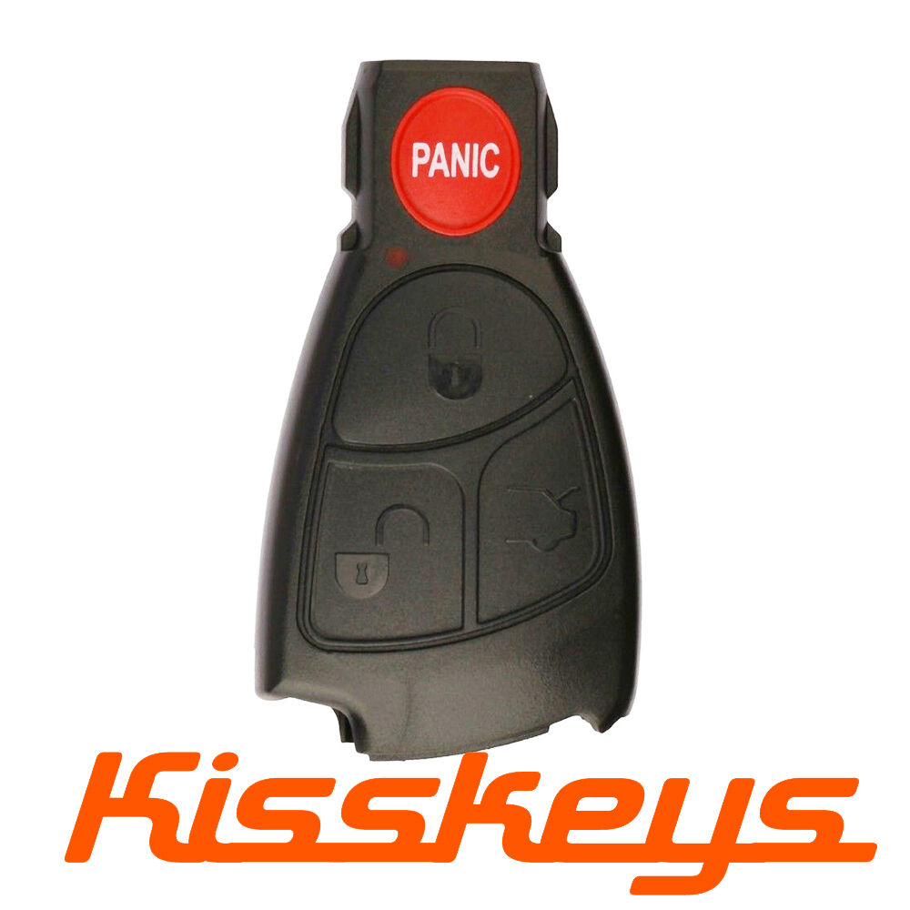 Replacement 4 buttons key remote entry fob case shell for for Mercedes benz c230 battery replacement