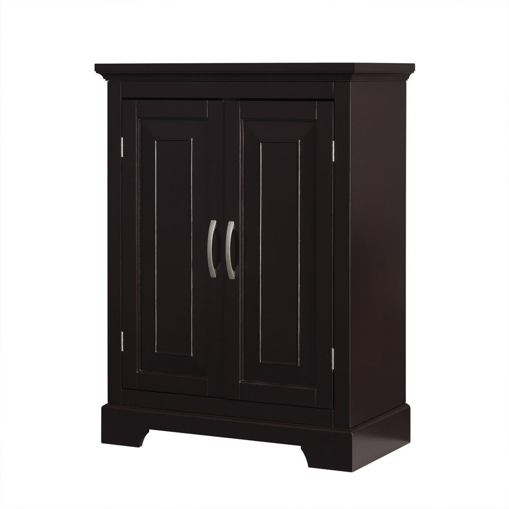 Alfa Double Door Floor Cabinet W 2 Shelves For Bathroom