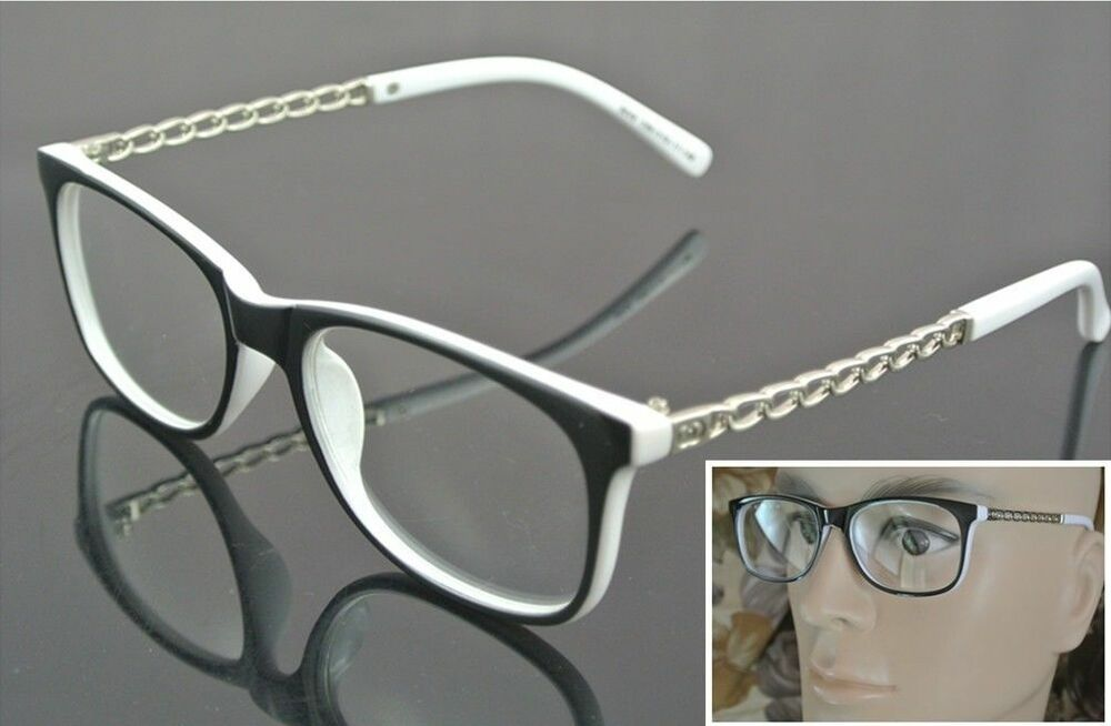 My Glasses Frames Are Turning White : Vintage Eyeglass Frame Black White Full-Rim Glasses Clear ...