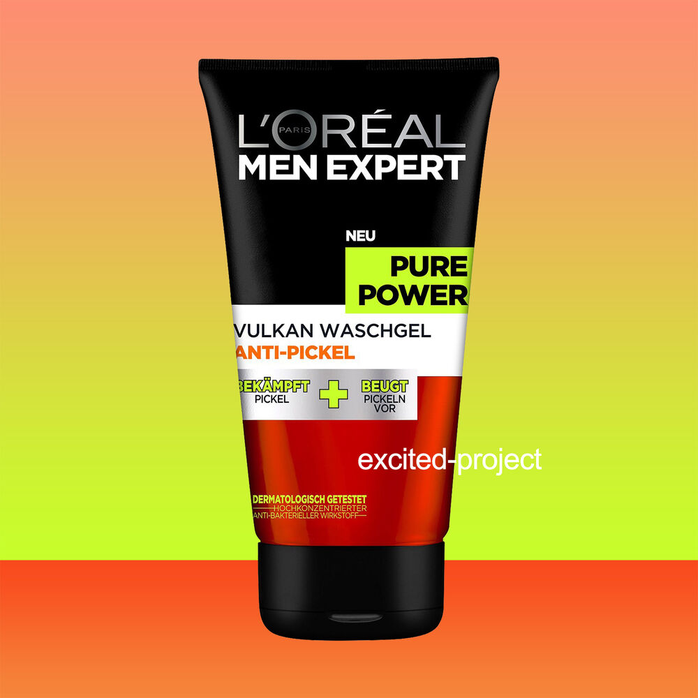 l 39 oreal men expert pure power volcano antibacterial wash gel 150ml fl oz ebay. Black Bedroom Furniture Sets. Home Design Ideas