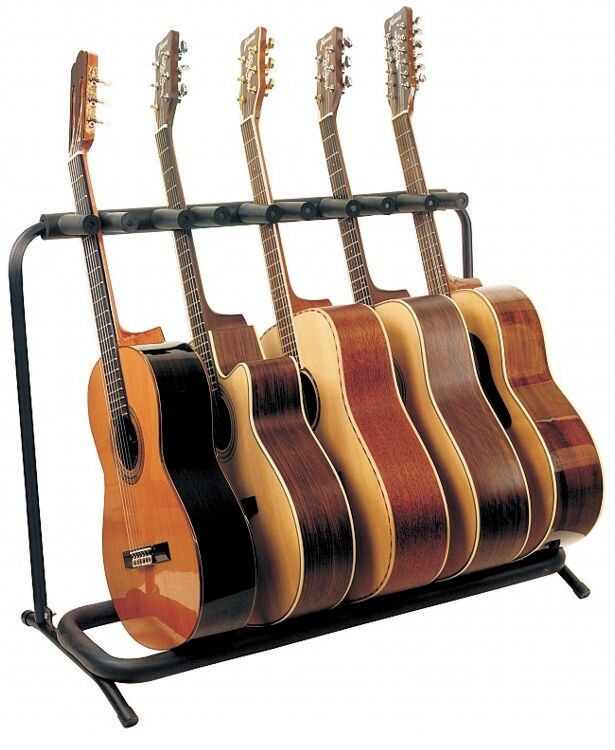 closeout rockstand multiple guitar stand for 5 acoustic guitars rs20871b2 4033685032871 ebay. Black Bedroom Furniture Sets. Home Design Ideas