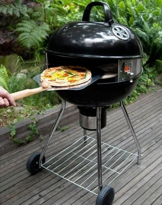 pizza grill kit charcoal oven kettle outdoor patio traditional bbq cooker smoker ebay. Black Bedroom Furniture Sets. Home Design Ideas