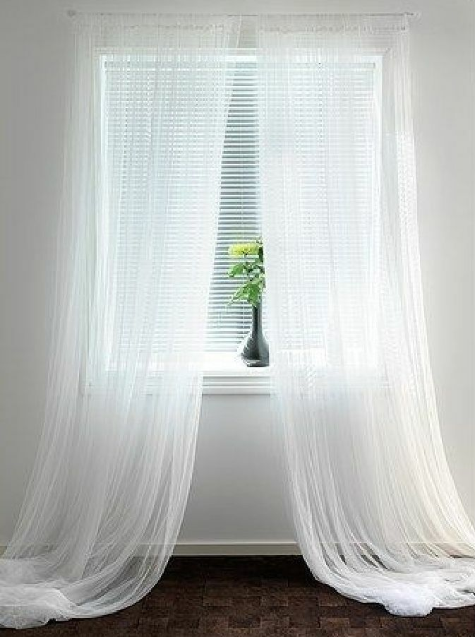 1 Pc Sheer Voile Solid White Curtain Panel Length 36 63 84 95 108 Long Ebay