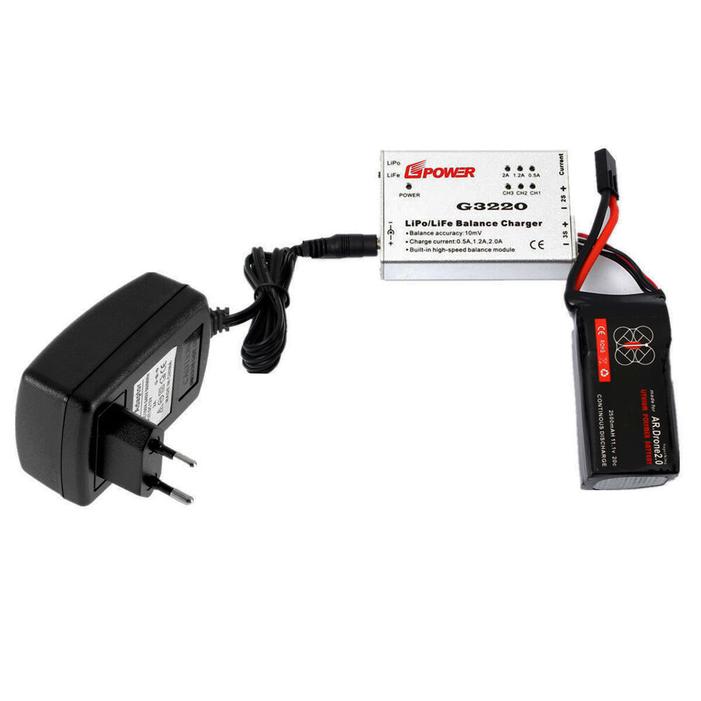 Parrot Ar Drone 2 Charger 0 Wiring Diagram Quick Balance 2500mah Battery For