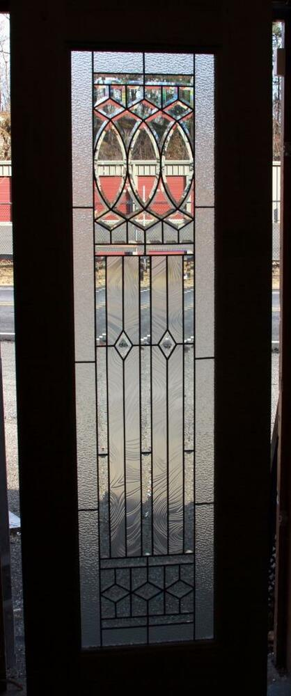 Beautiful Beveled Glass Custom Mahogany Entry Door Blow