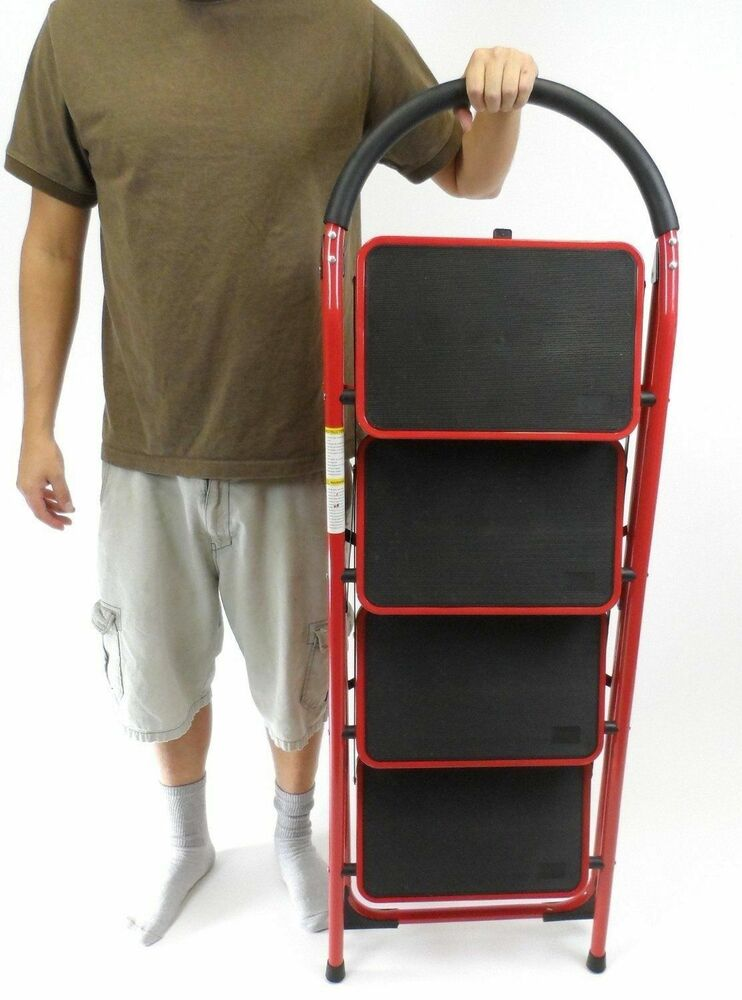 Rv Windshield Ladder Jumbo 4 Step Stool Xl Steps Heavy