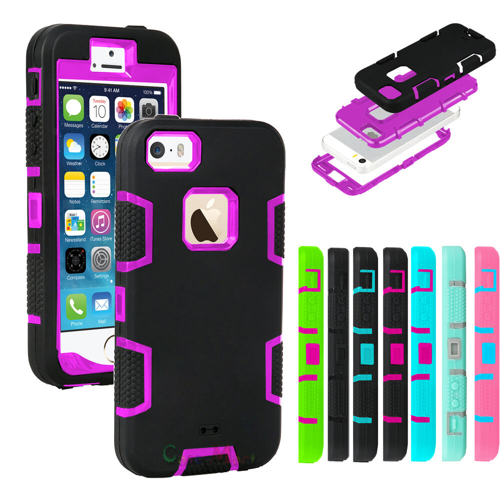 iphone 5s cases ebay hybrid shockproof rugged rubber armor cover for 14763