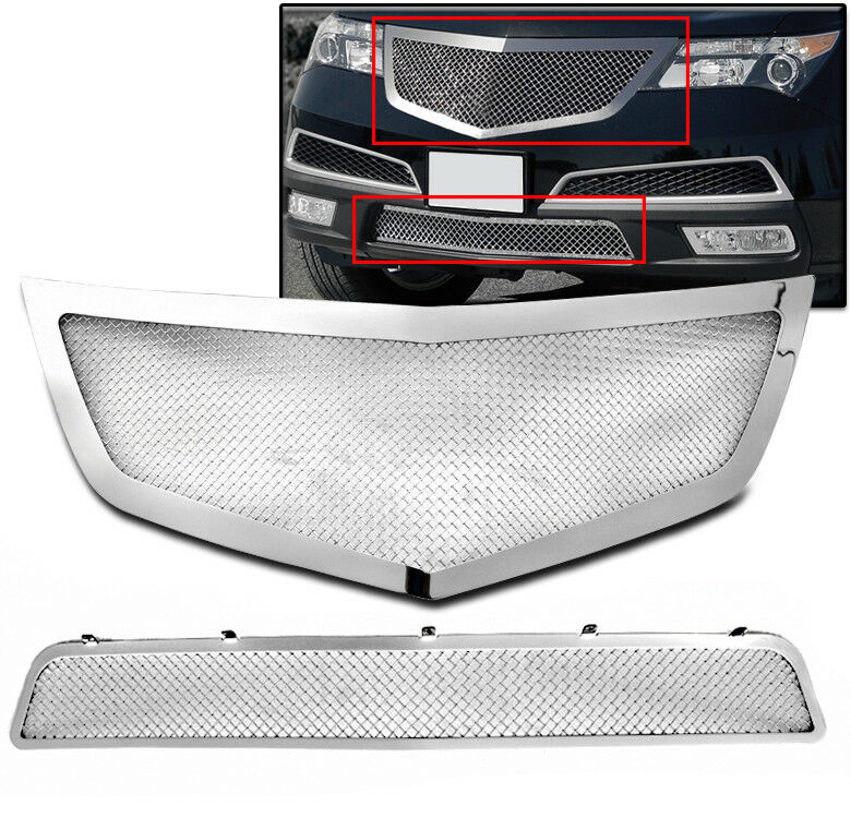 2010-2013 ACURA MDX FRONT TOP+BUMPER MESH GRILLE INSERT