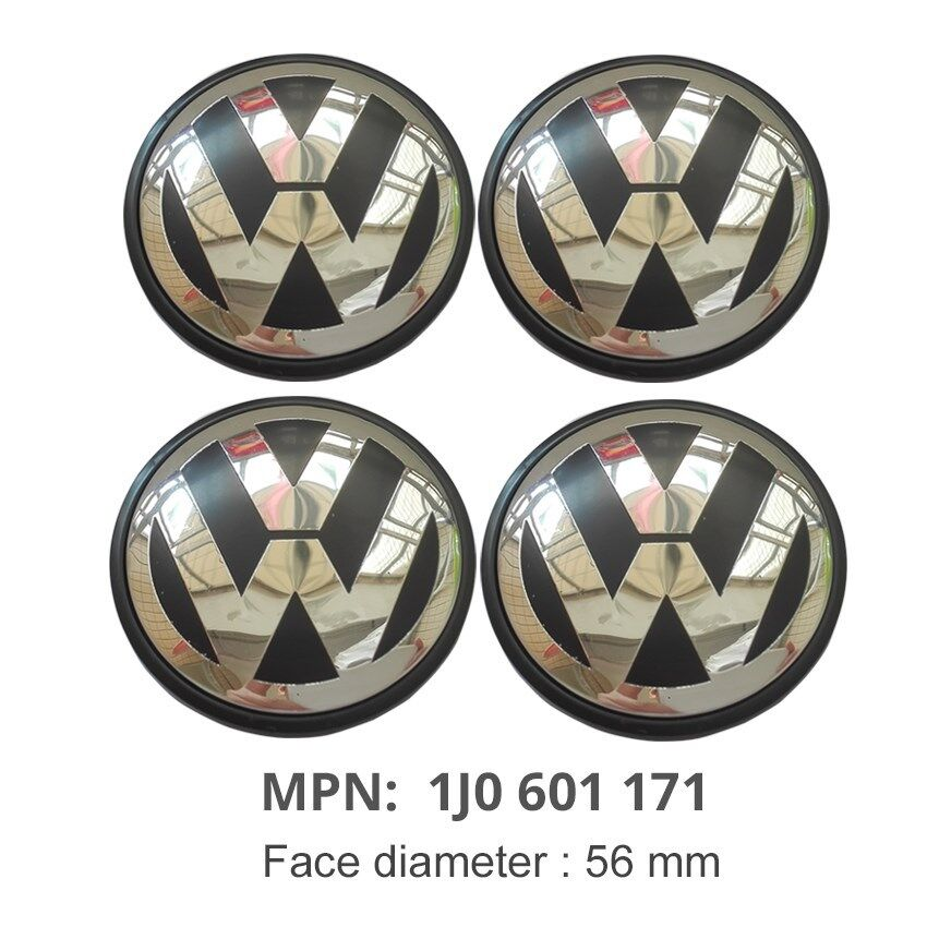 4Pcs 56mm Wheel Center Cap 1J0601171 Emblem For Volkswagen VW Golf Jetta Passat | eBay