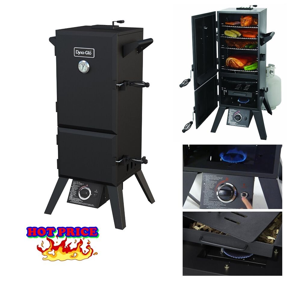 bbq smoker grill barbecue gas grills double door vertical propane meat grilling ebay. Black Bedroom Furniture Sets. Home Design Ideas