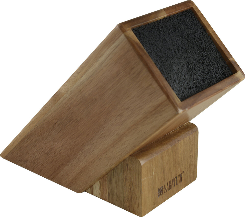 sabatier maison universal acacia wood knife block ebay. Black Bedroom Furniture Sets. Home Design Ideas