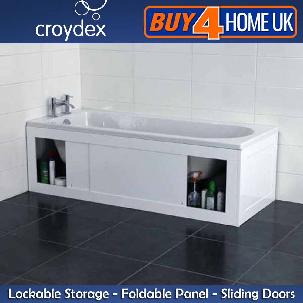 Croydex Front End Unfold N Fit White Bath Panels Key