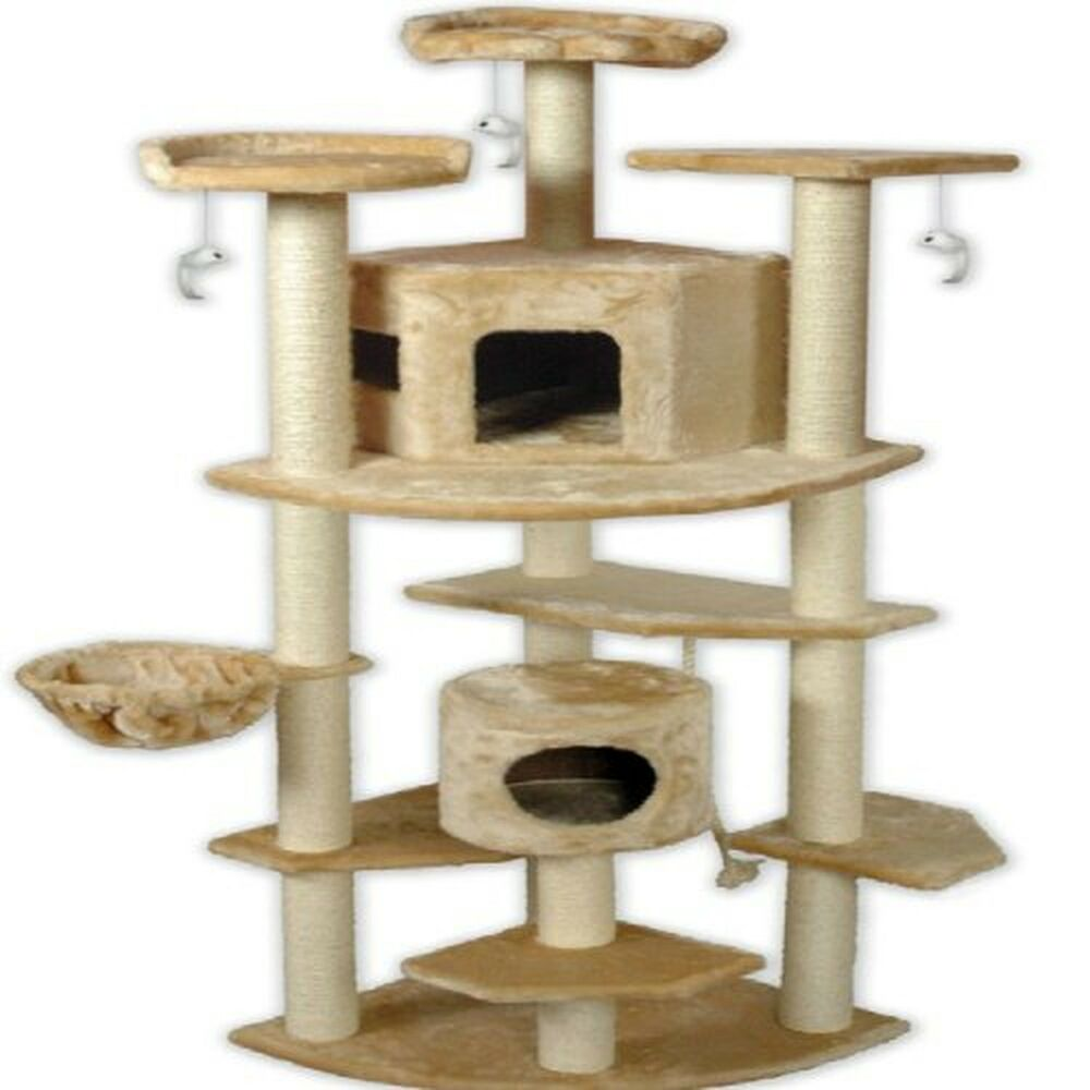 cat tree 80 large tower condo scratchpost pet house bed
