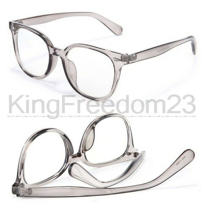 top quality vintage transparent gray eyeglass frame