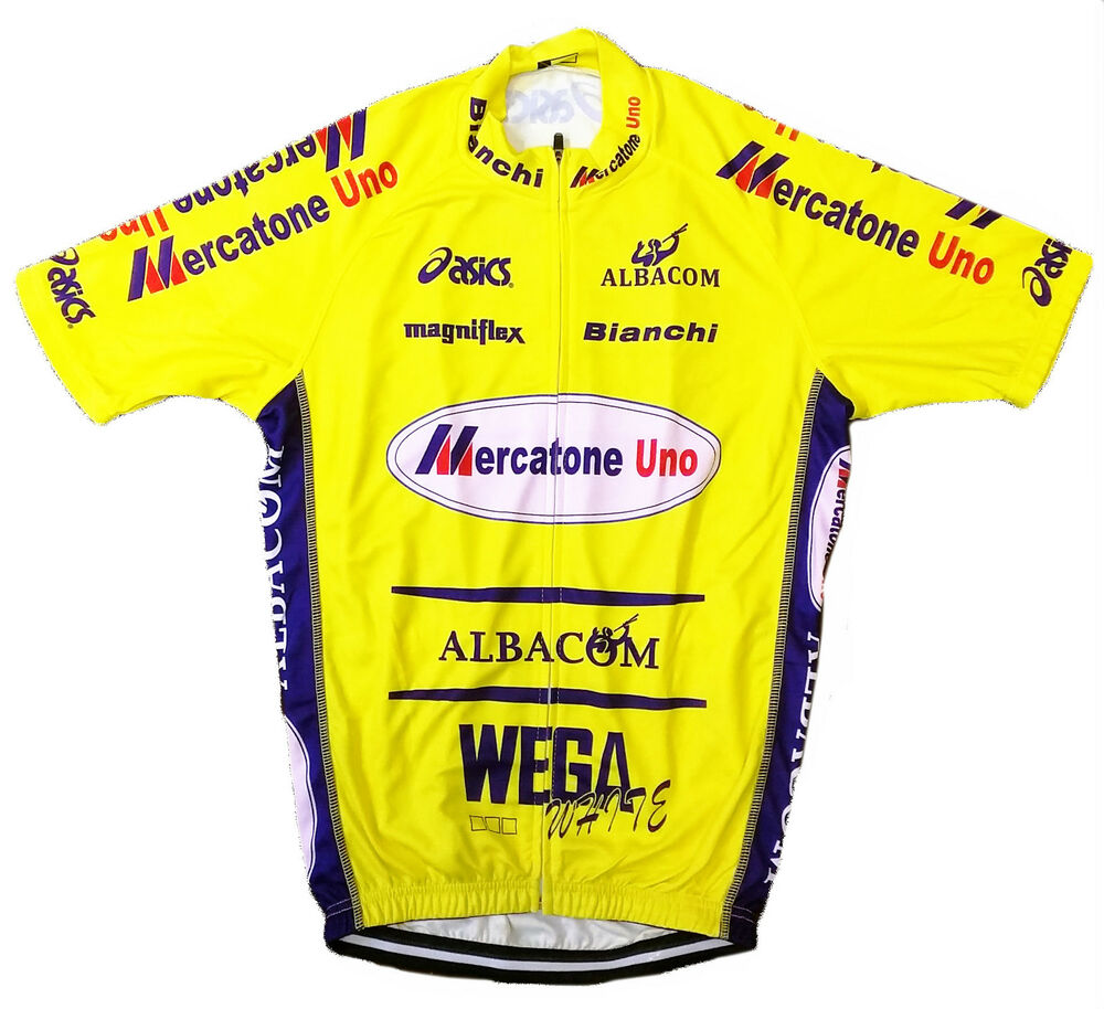 Mercatone uno retro vintage cycling team bike jersey for Mercatone uno scrivania bambini