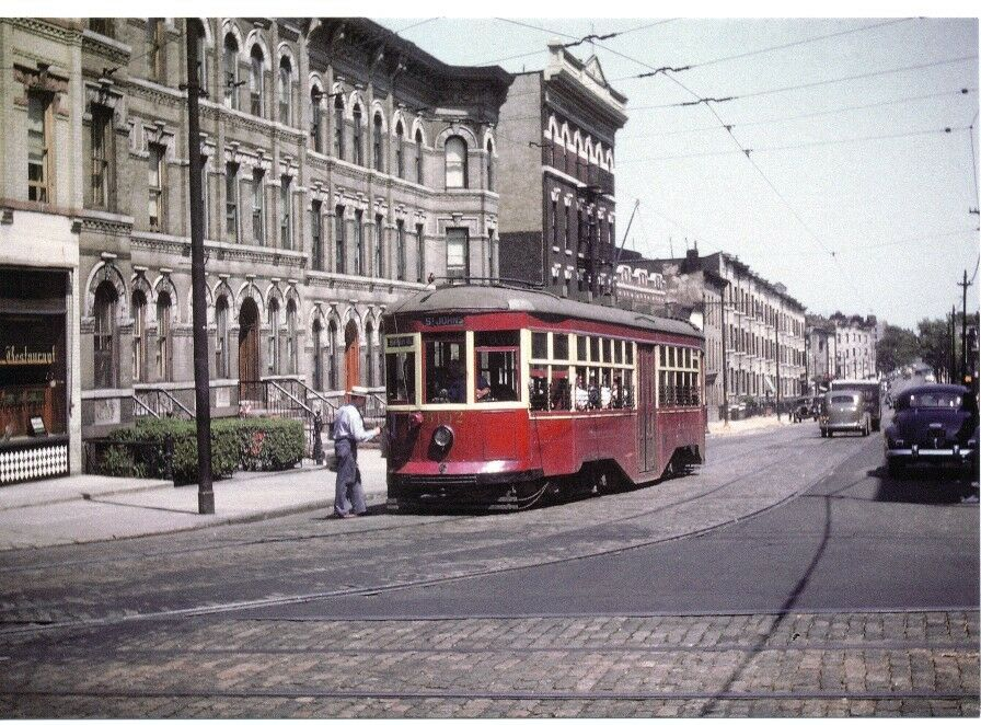 1947 Crown Heights Trolley St Johns& Rogers Modern Post