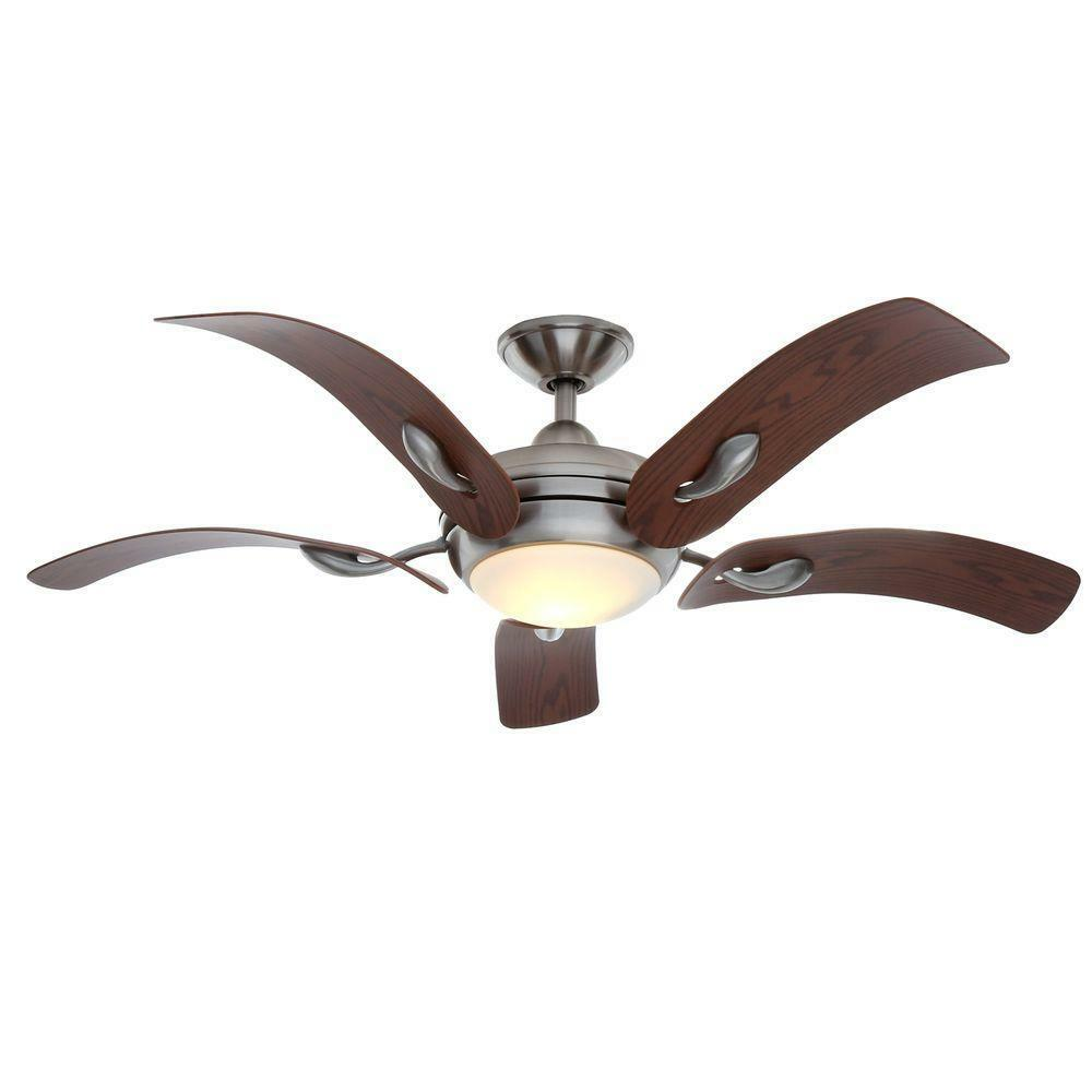 "Ceiling Light Fan: Cassaro II 52"" Brushed Nickel Ceiling Fan With Light"