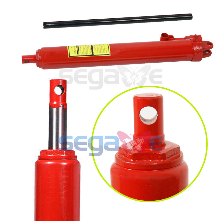 Cherry Picker Jack Parts : Ton replacement red long ram hydraulic jack cherry