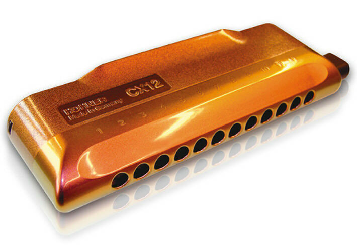 hohner cx12 jazz chromatic harmonica 12 holes brass made in germany m754601 ebay. Black Bedroom Furniture Sets. Home Design Ideas