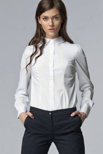 Chemise Blanche femme manches longues K43 Nife tailles 36 38 40 42 44