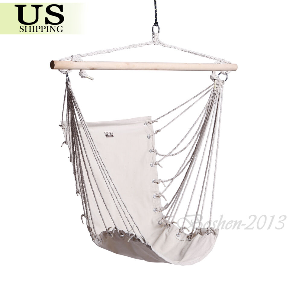 ... Air Sky Swing Outdoor Indoor Garden Patio Porch Solid Wood | eBay