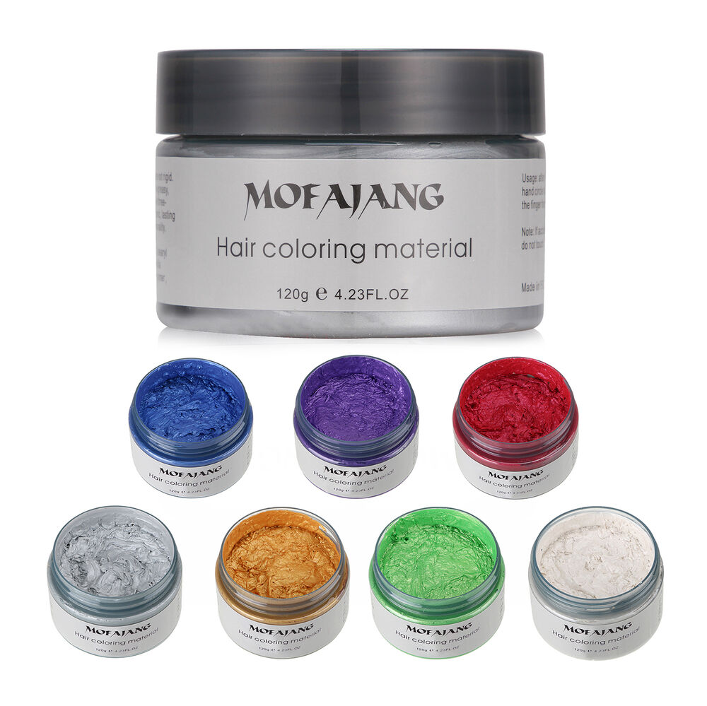 New Unisex DIY Hair Color Wax Mud Dye Cream Temporary Modeling 7Colors Availa