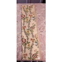 Antique 18thC French Floral Silver & Gold Metallic Silk Brocade Fabric~37