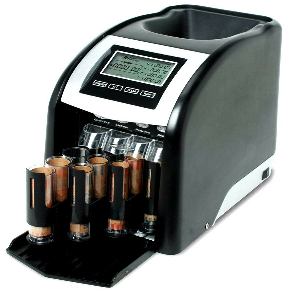 Money coin sorter counter counting machine sorting bank cash business quality ebay - Sorting coin bank ...