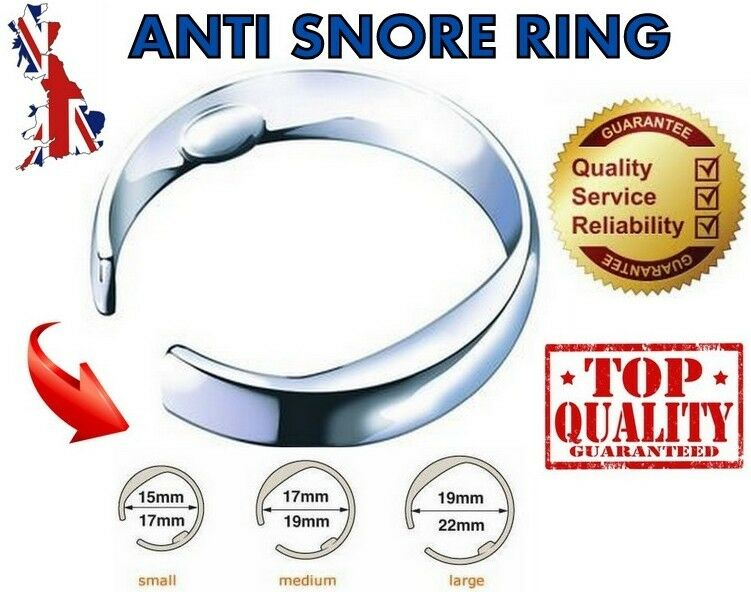 Stop snoring ring anti snore stopper acupressure sleep aid device 3 sizes uk ebay - Stof snor ...