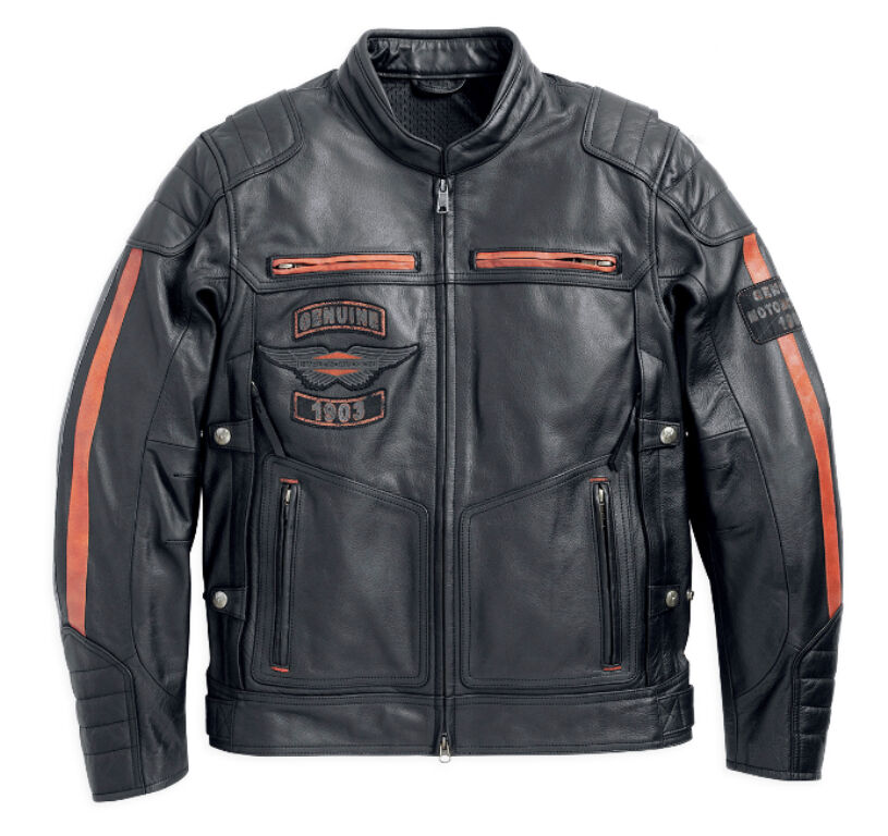harley davidson motorradjacke exmoor gr m lederjacke. Black Bedroom Furniture Sets. Home Design Ideas