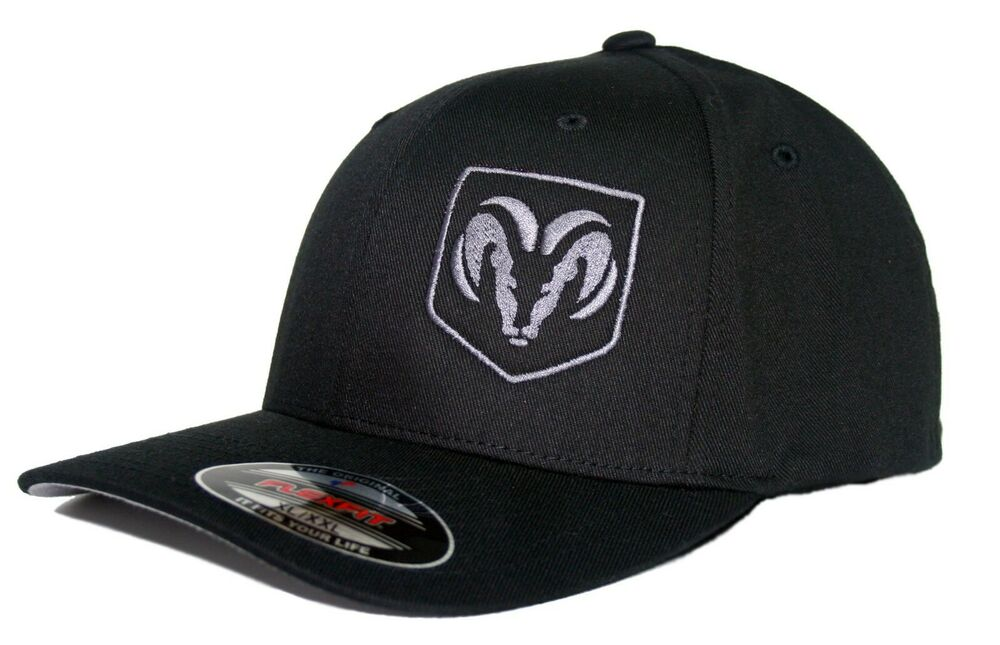 Ram Truck Hat Cap Fitted Flexfit Curved Bill Dodge Ebay