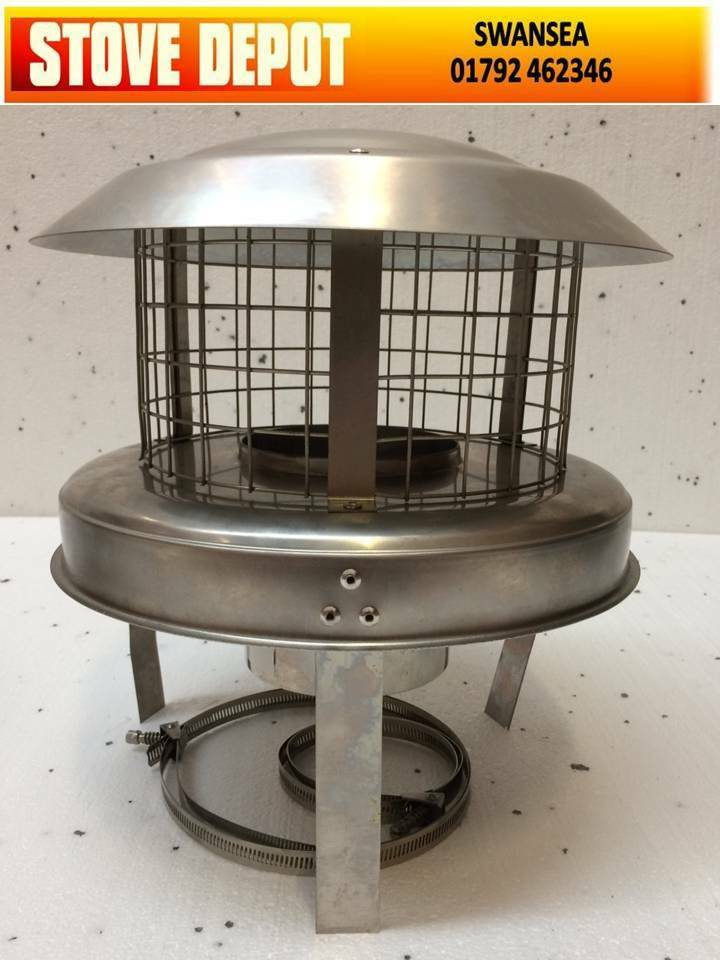 6 Quot Stainless Steel Chimney Pot Hanger Hanging Cowl Cowls