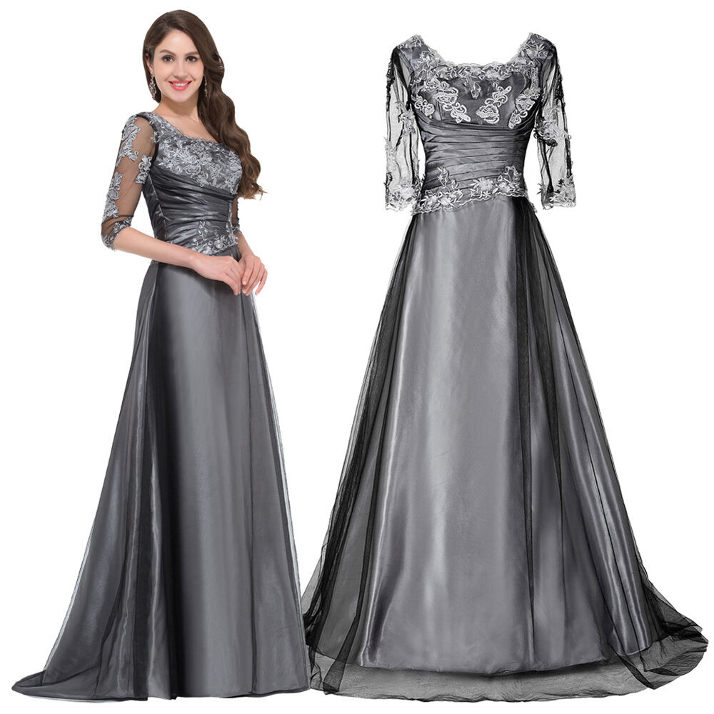Vintage Long Formal Wedding Prom Party Masquerade Gown