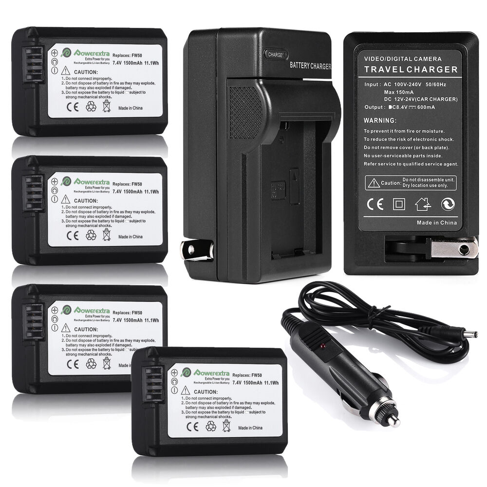 NP-FW50 Battery for SONY A3000 A5000 A6000 A7 NEX-5T NEX-6 NEX-7 NEX-3N +Charger | eBay