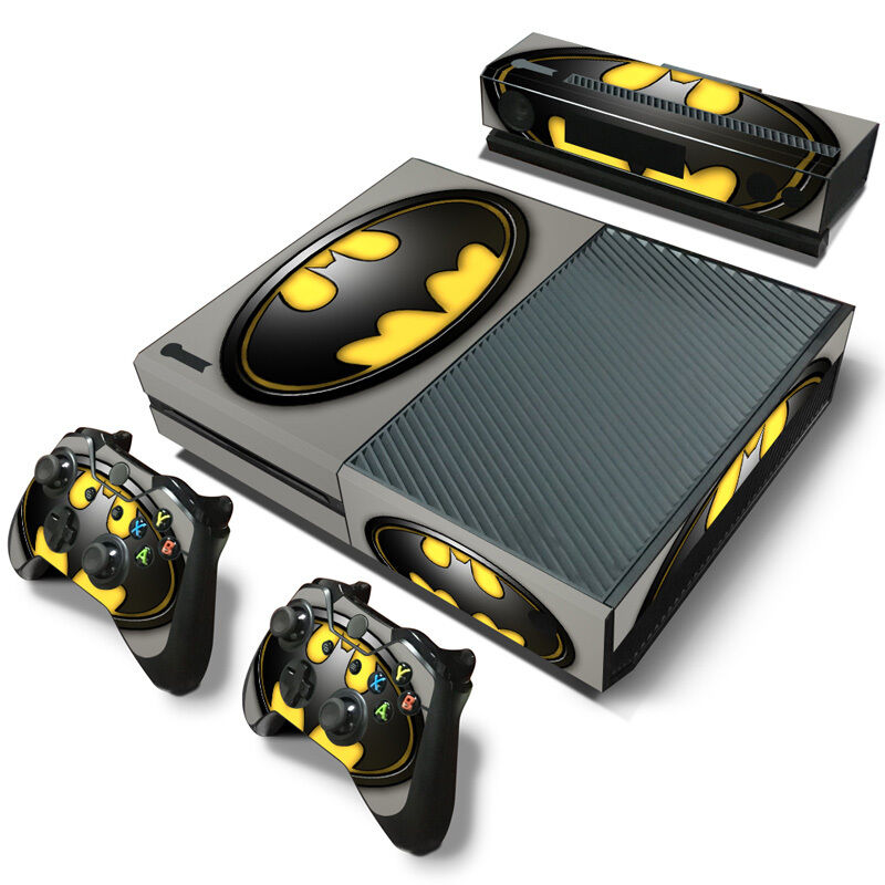 batman vinyl decal skin stickers for xbox one console 2 controller kinect ebay. Black Bedroom Furniture Sets. Home Design Ideas
