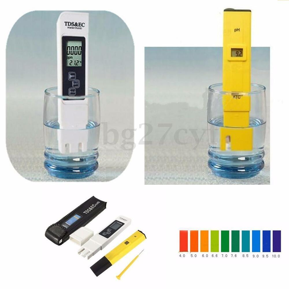 digital lcd ph meter tds ec water purity ppm filter hydroponic pool tester pen ebay. Black Bedroom Furniture Sets. Home Design Ideas