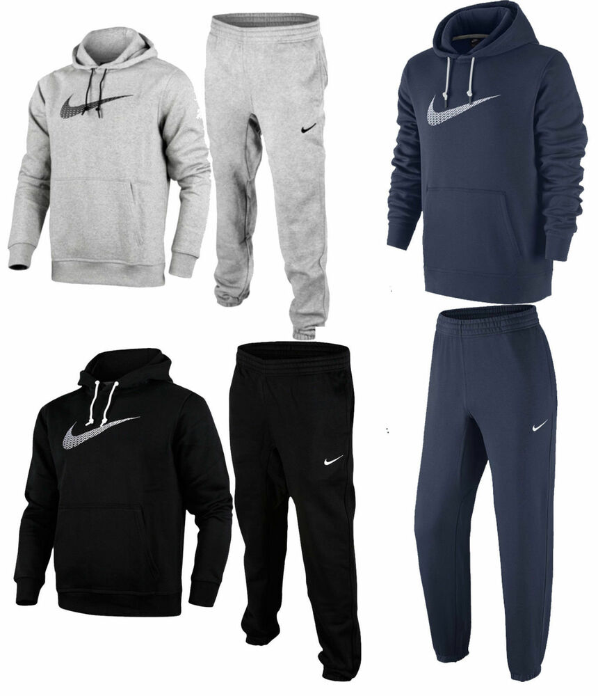 new mens nike full tracksuit jogging bottoms sweat pants hoodie jumper hoody ebay. Black Bedroom Furniture Sets. Home Design Ideas