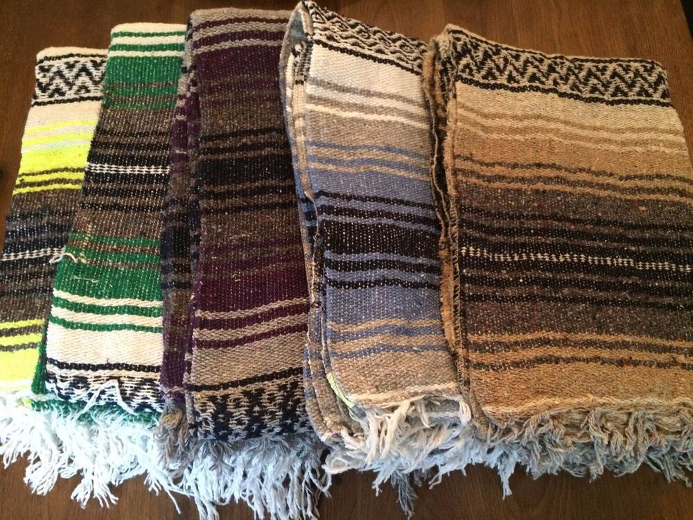 5 Pack Mexican Falsa Throw Blankets Yoga New Made