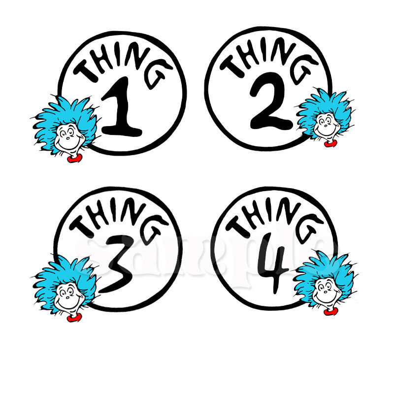 Decisive image for thing 1 and thing 2 printable iron on transfer