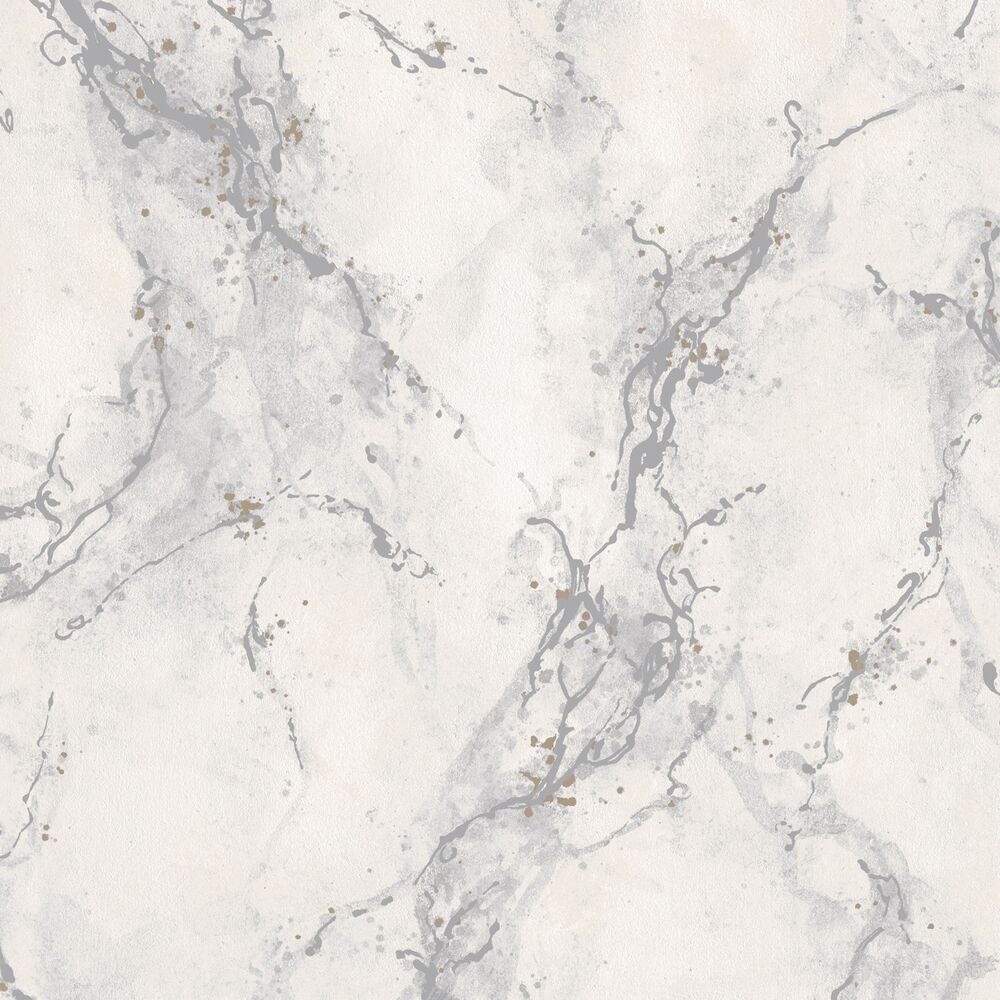 Strata light grey marble wallpaper washable vinyl by rasch for Grey and white wallpaper