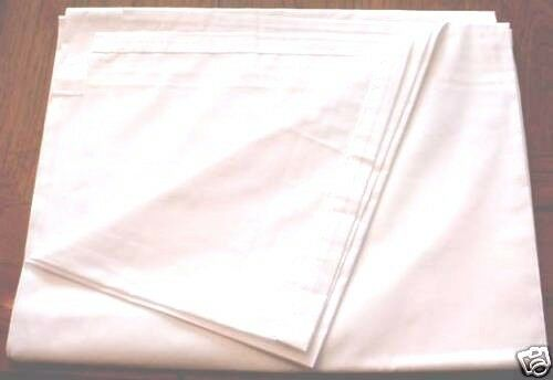 Lot Of 4 White Flat Sheets Twin Size Long 104 Quot X 66 Quot New