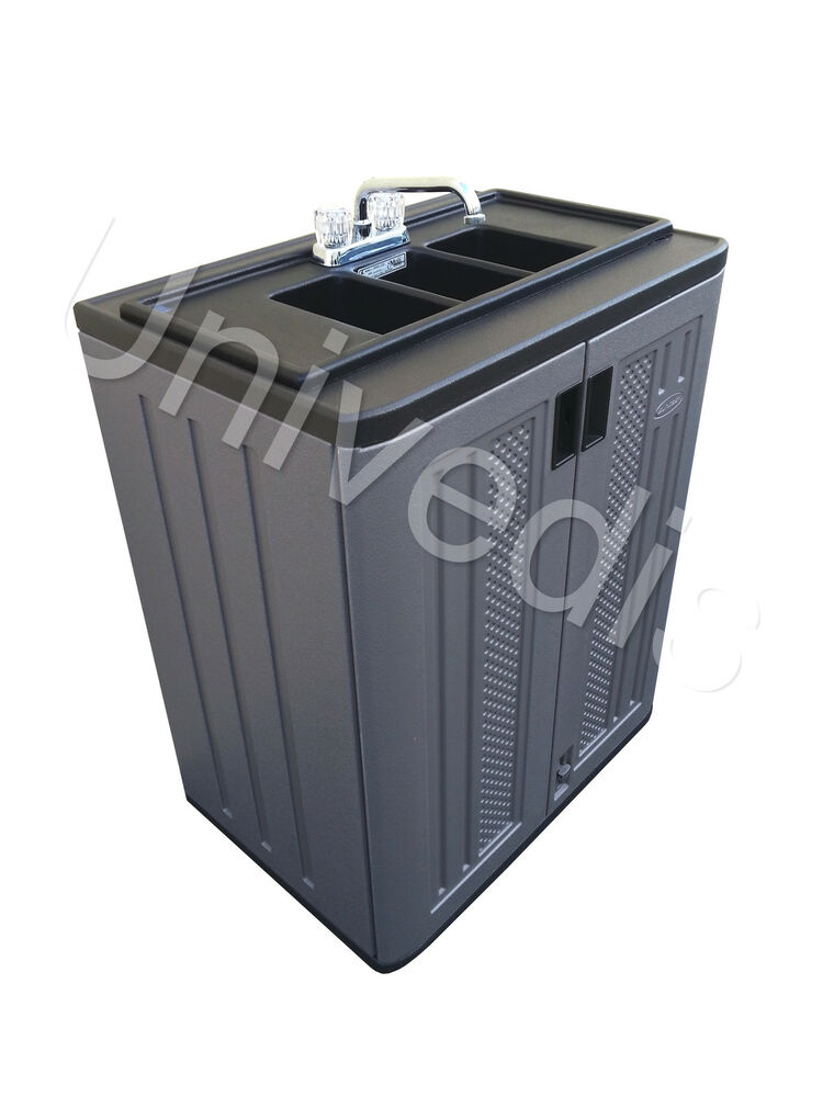Portable Sink Self Contained Three 3 Compartment