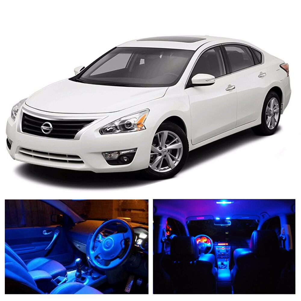 Led blue lights interior license package kit for nissan altima 2007 2015 ebay 2015 nissan altima interior lights