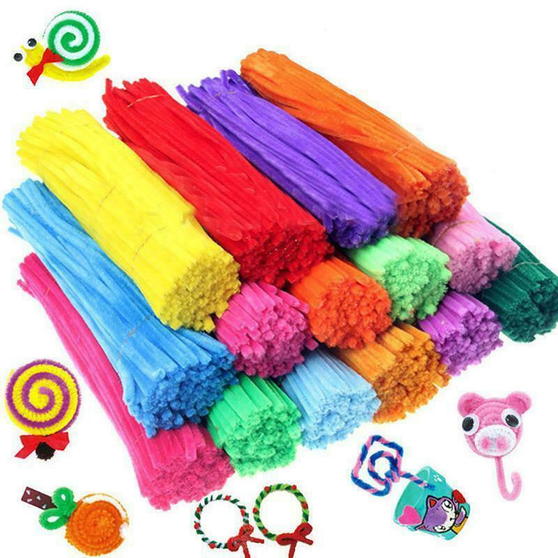 20 100pcs chenille stems pipe cleaners kids craft for Crafts that sell on ebay